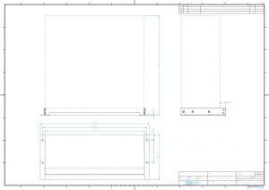 4CHフレーム用JISラックマウントキット外観図PDF