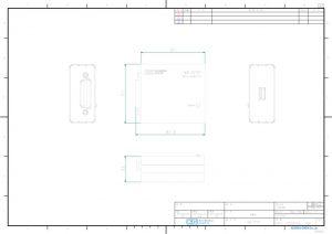 GP-IB/USB変換アダプタ外観図PDF