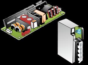 小型オンボード電源 組込電源イメージ図