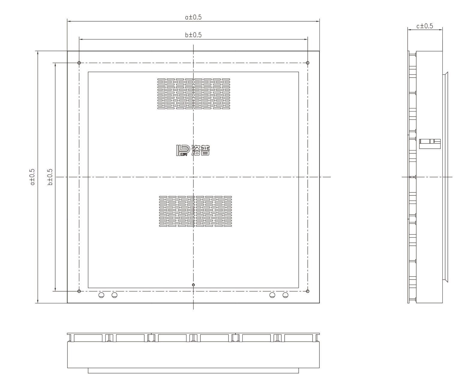Indoor SMD dimension