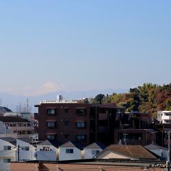 慶應キャンパス方面では富士山も見えます